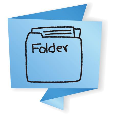 web directories: doodle folder Illustration