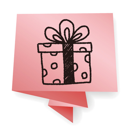 birthday gift: birthday presents doodle drawing