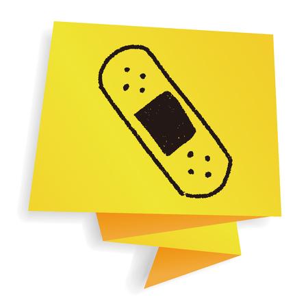 adhesive bandage: adhesive bandage doodle drawing