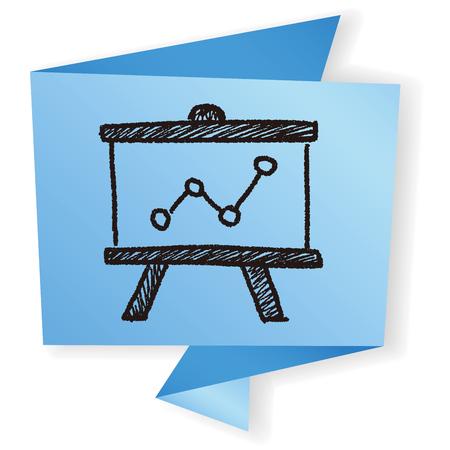 whiteboard: doodle whiteboard chart Illustration