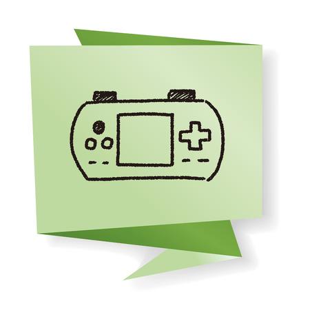 playstation: doodle pocket game Illustration