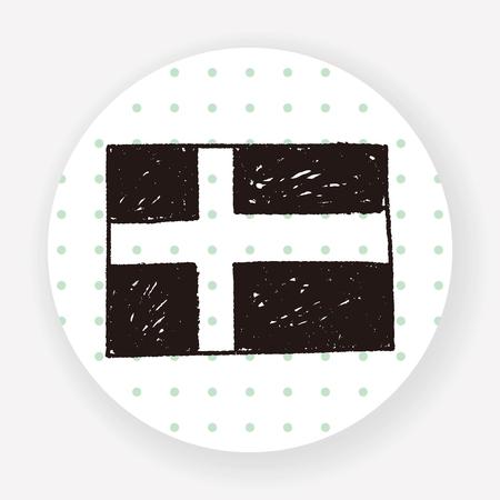 sweden: sweden flag doodle