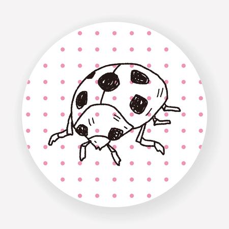 ladybug: Ladybug doodle Illustration