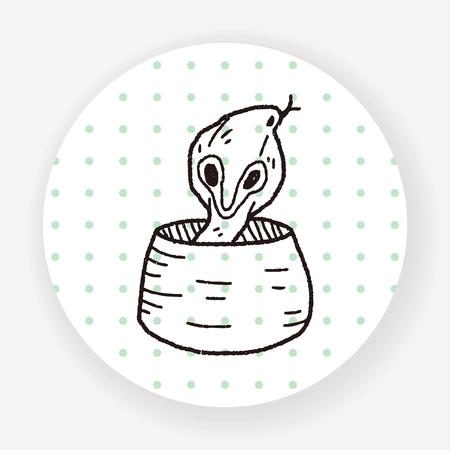 poison fang: cobra doodle Illustration