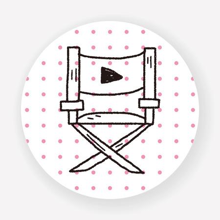 director's chair: Directors chair doodle