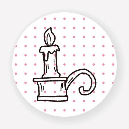 candlestick: candlestick doodle