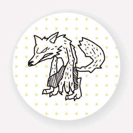 wilkołak: Wilkołak doodle