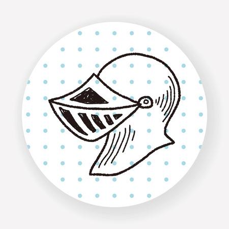 knight helmet: knight helmet doodle