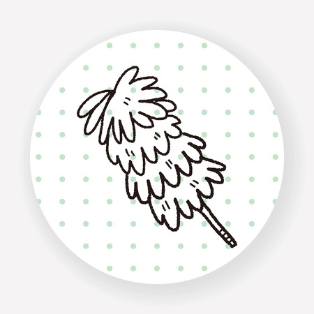 duster: feather duster doodle