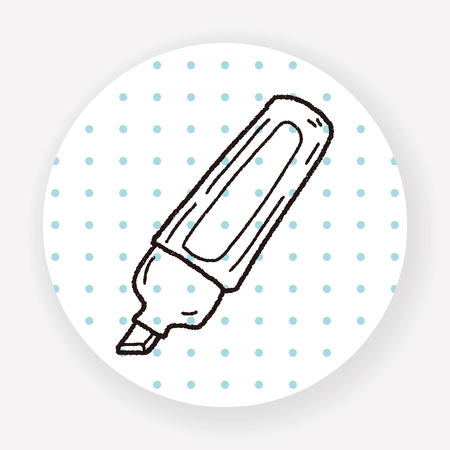highlighter pen: highlighter pen doodle Illustration