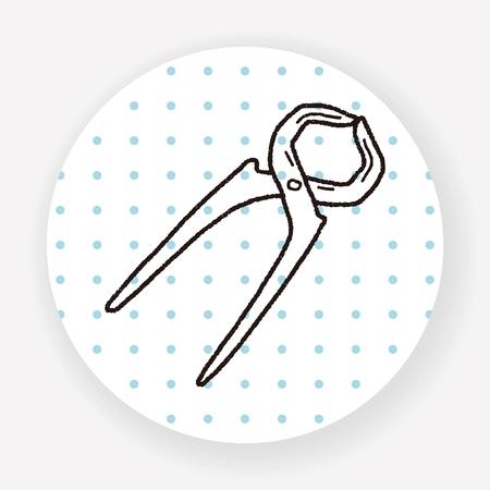 plier: plier doodle Illustration