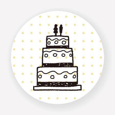wedding cake: wedding cake doodle