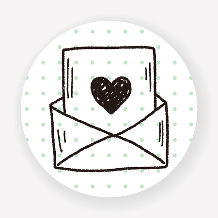 mail: love mail doodle