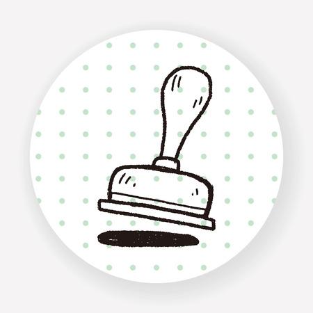 stamper: stamp doodle Illustration