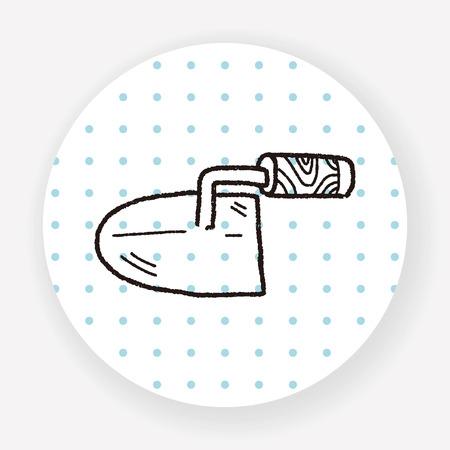 trowel: cement trowel doodle