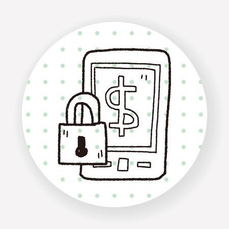 phone money: phone money safe doodle