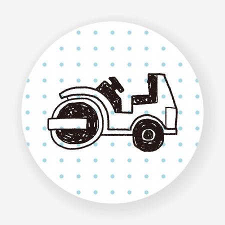 asphalt paving: truck doodle Illustration