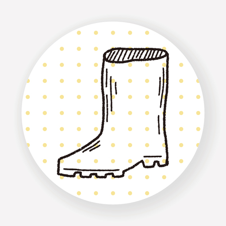 botas de lluvia: botas de lluvia del doodle Vectores