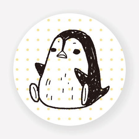 penguin doodle Иллюстрация