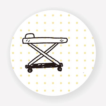 hospital bed: hospital bed doodle Illustration