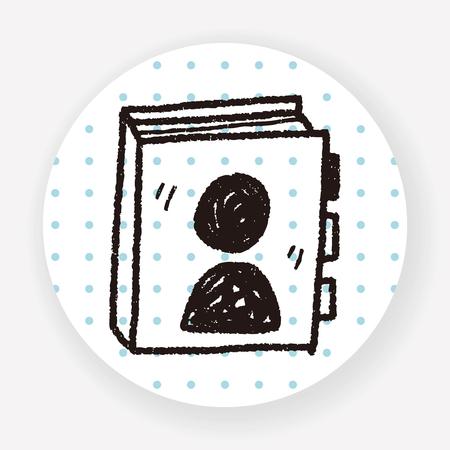 phone book: phone book doodle Illustration