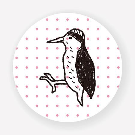 pecker: woodpecker doodle Illustration