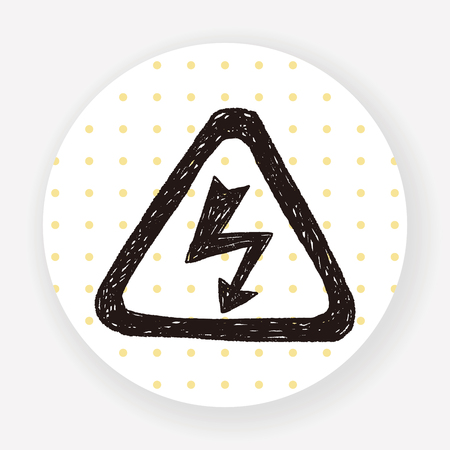 high voltage sign: High Voltage sign doodle Illustration