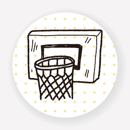 creative shot: basketball doodle Illustration