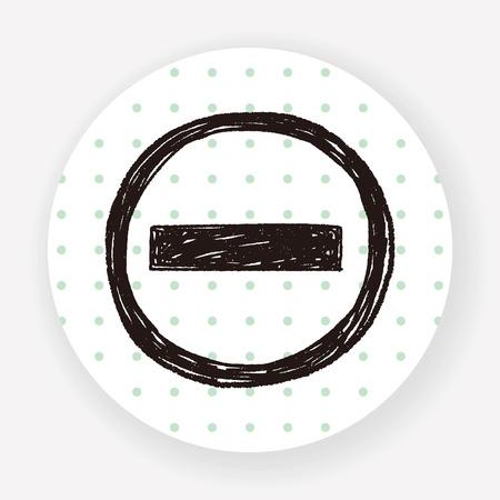 brick road: No Entry Traffic doodle