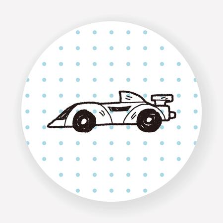 racecar: racing doodle