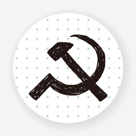 socialist: sickle hammer doodle