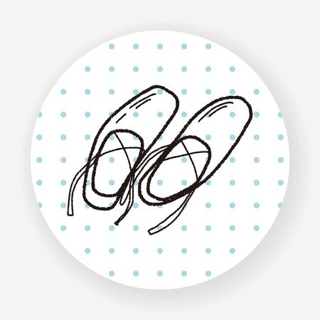 pointes: ballet shoes doodle