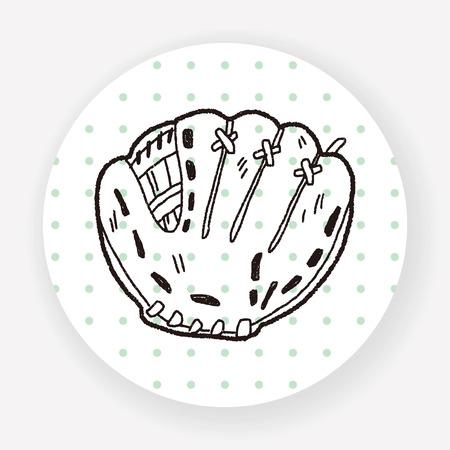 glove: baseball glove doodle