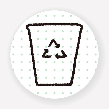 recycling: Doodle Recycling Illustration