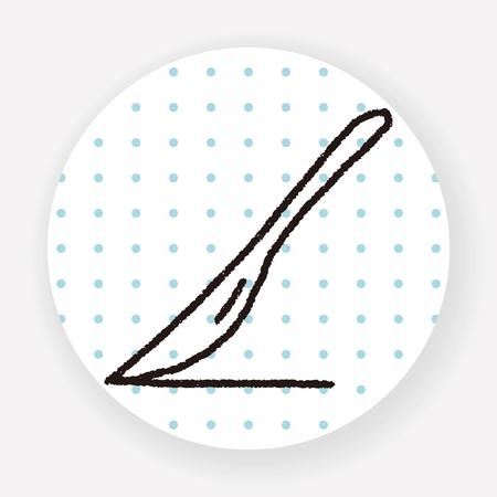 scalpel: doodle scalpel Illustration