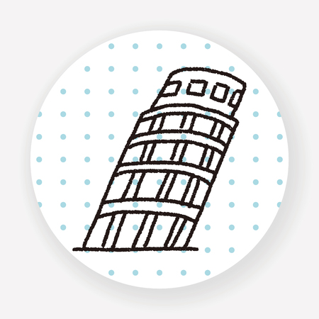 tower of pisa: doodle Leaning Tower of Pisa