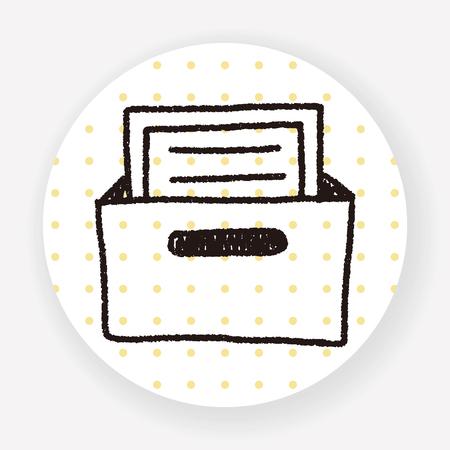 file box: file box doodle drawing