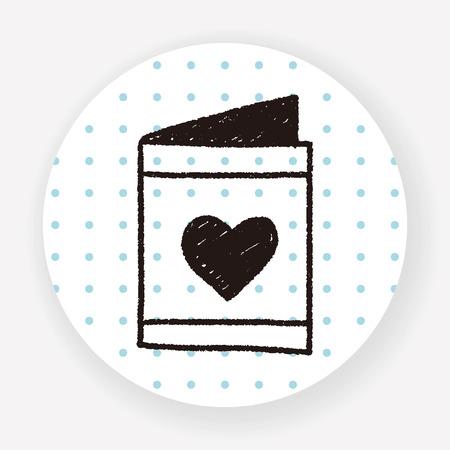 design media love: love letter doodle drawing Illustration