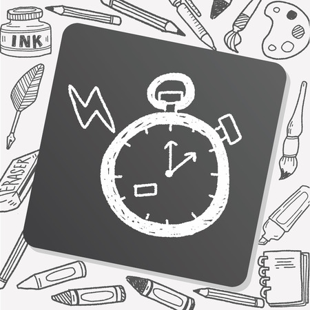 quick drawing: doodle stopwatch Illustration
