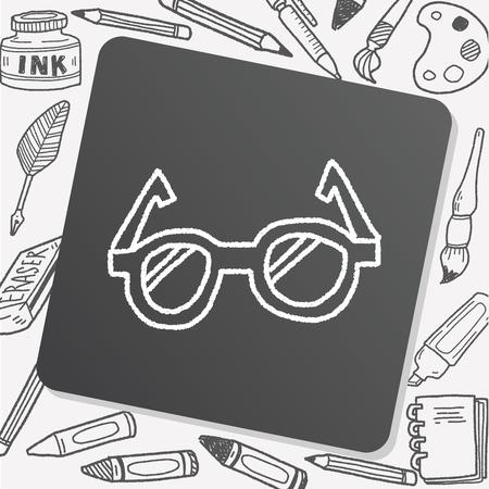 eye glasses: doodle eye glasses Illustration