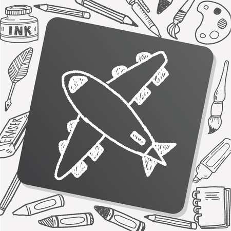 airplane: doodle airplane