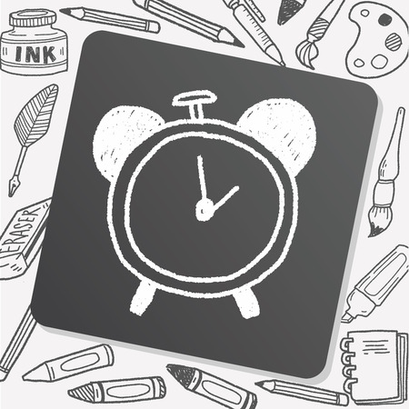 clock icon: clock doodle drawing