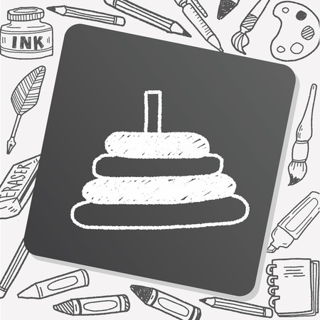 educational: educational toy doodle drawing Illustration