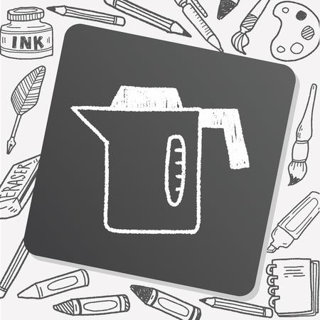 hot water bottle: kitchenware hot water bottle doodle drawing