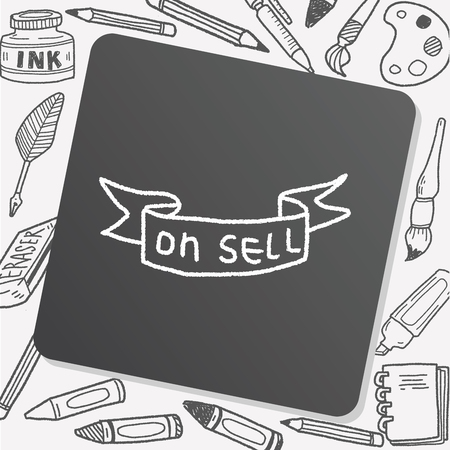 sell: Doodle Sell Illustration