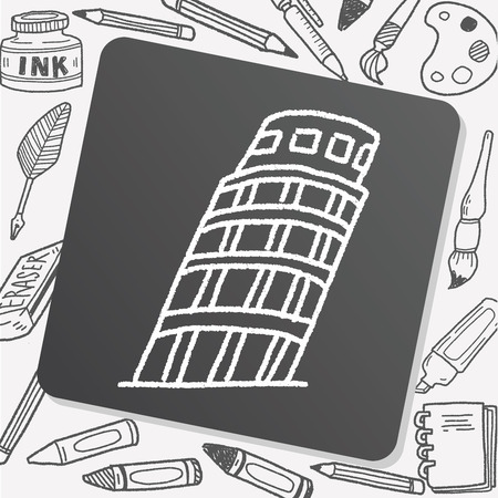 the leaning tower of pisa: doodle Leaning Tower of Pisa