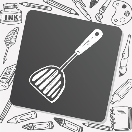 culinary: Doodle  culinary  spoon Illustration