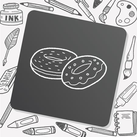 donut: donut doodle Illustration