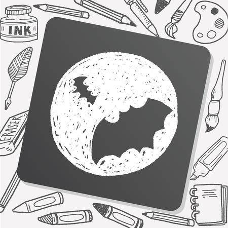 spook: bat doodle Illustration
