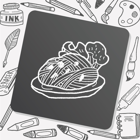 noodle: doodle pasta noodle